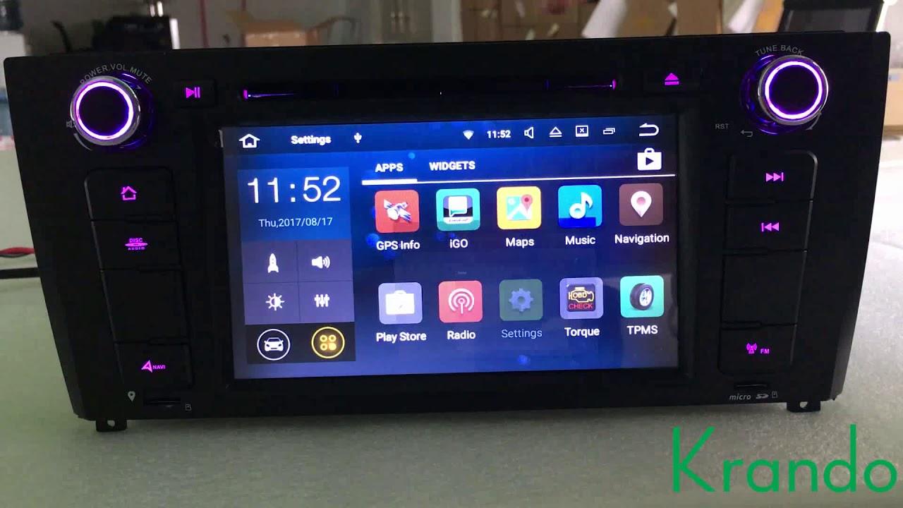 krando android 7 1 car radio for bmw 1 series e81 e82 e87. Black Bedroom Furniture Sets. Home Design Ideas