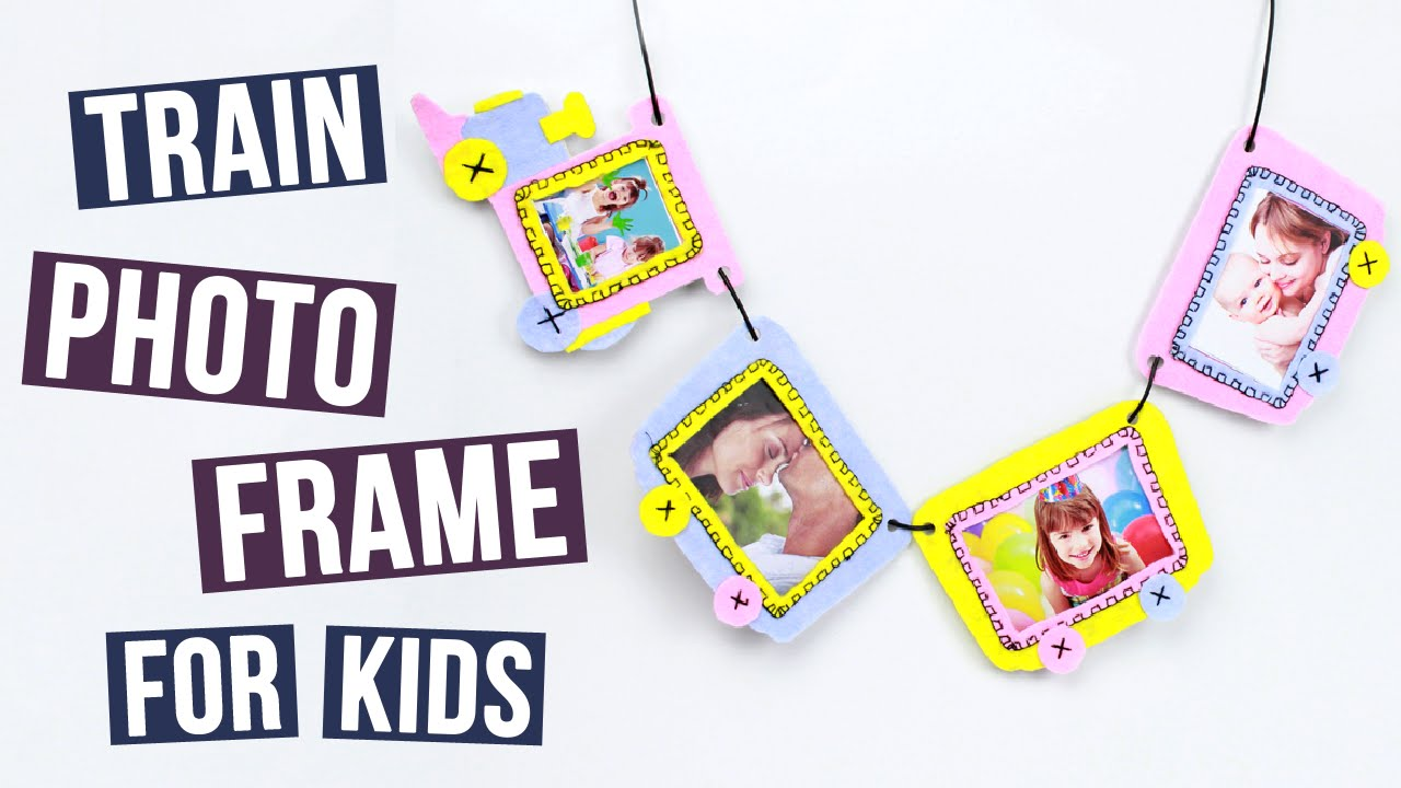 DIY Train Photo Frame For Kids - YouTube