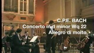 Repeat youtube video CPE Bach: Flute concerto in d minor - Philippe Bernold, flute