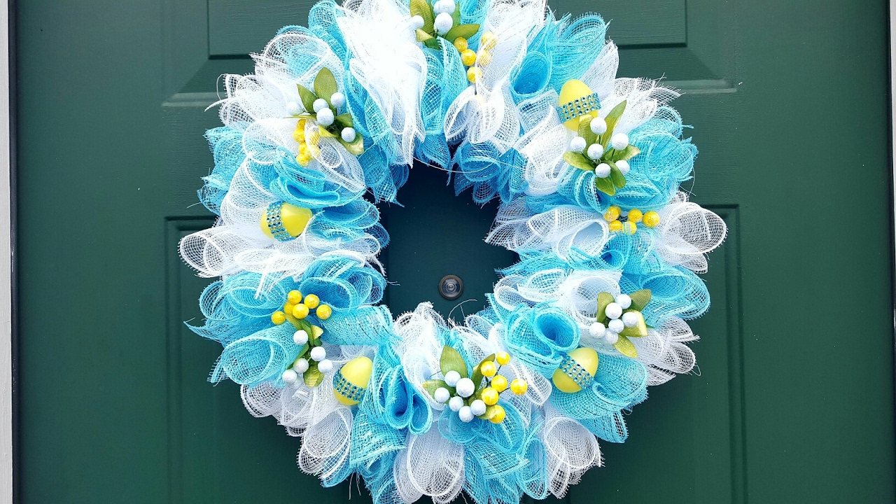 Crafts with deco mesh - Dollar Tree Easter Wreath Deco Mesh Diy Crafts