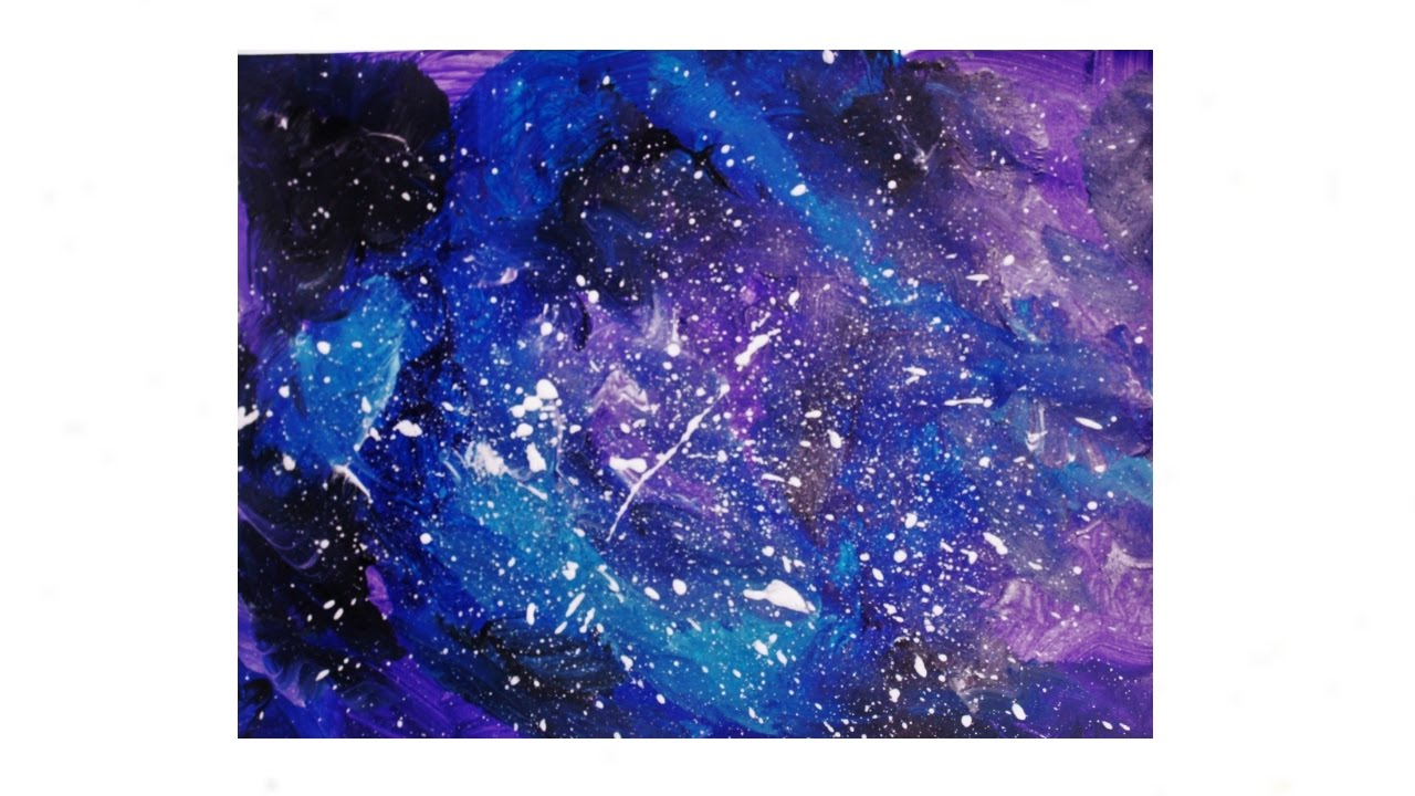 How To Paint Galaxy Using Acrylic In 5 Minutes Easiest Step By Tutorial