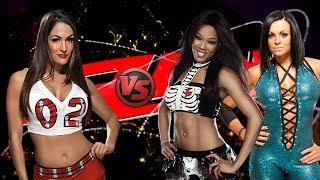 wwe raw nikki bella vs alicia fox aksana 2 on 1 handicap match full match hd
