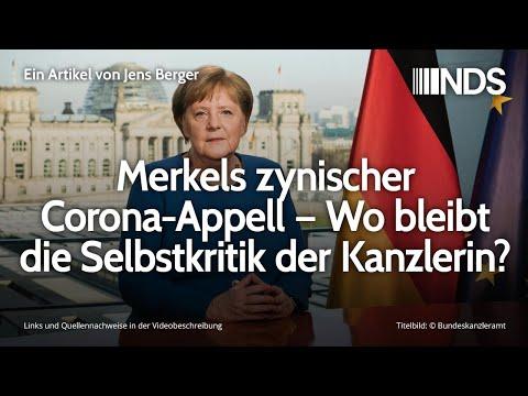 Merkels zynischer Corona-Appell – Wo bleibt die Selbstkritik der Kanzlerin? | Jens Berger | NDS