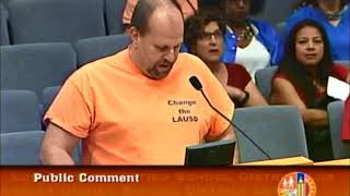 Without Discussion...The LAUSD Board Chooses a President Ref Rodriguez is facing felony charges and wa