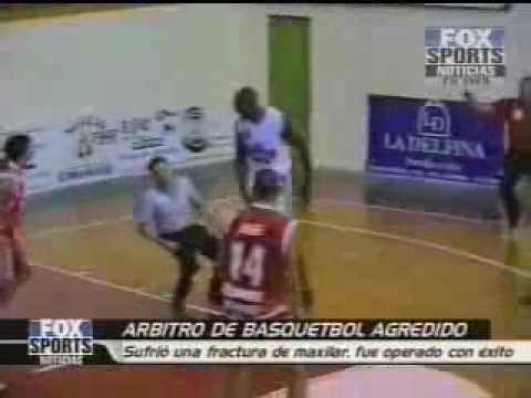 Basketball Player Hits Referee