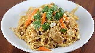 How To Make Thai Chicken Pasta!!