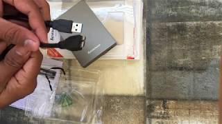 Lenovo F309 USB3 0 1TB External Hard Disk Grey Color Unboxing