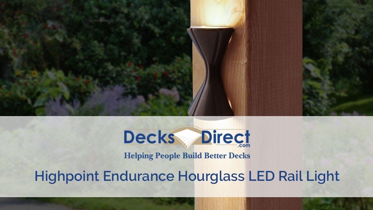 Endurance Hourgl Led Rail Light By Highpoint Deck Lighting