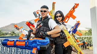 LTT Game Nerf War : Warriors SEAL X Nerf Guns Fight Intruder thief Group Braum Avenge Lover