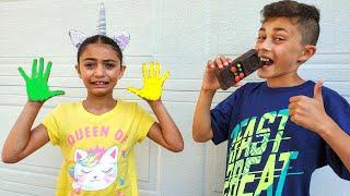 Amigável para a família | Uma história divertida para a família sobre cores! Crianças aprendem cores