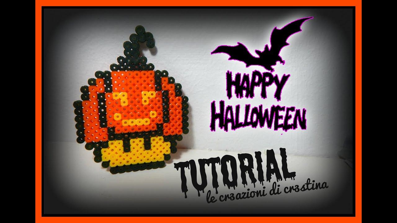 Zucca Di Halloween Pyssla.Zucca Di Halloween Con Hama Beads Pyssla Diy Super Mario Mushroom Tutorial