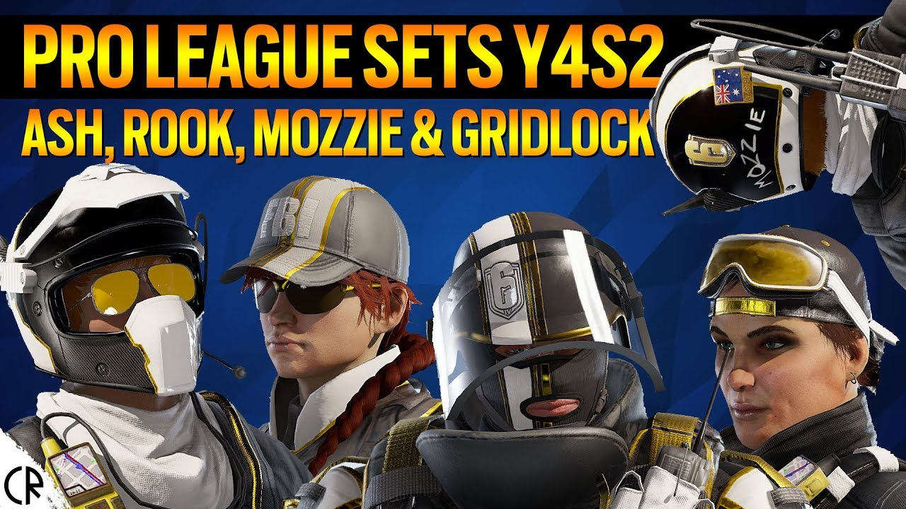 Pro League Sets Y4S2 - Ash, Rook, Mozzie, Gridlock - 6News - Tom Clancy's  Rainbow Six Siege