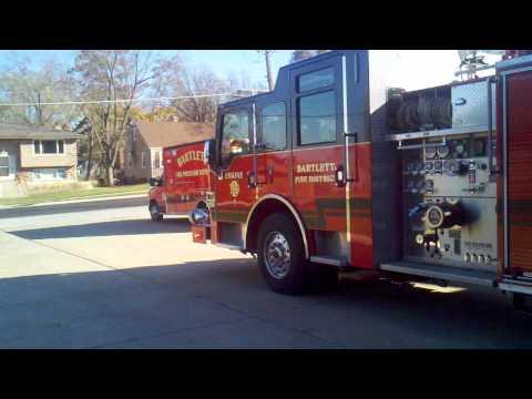 Bartlett Illinois Engine 1 Medic 1 responding