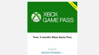 Microsoft Rewards gratuit 3 mois Xbox Live Et Xbox Game Pass Gratuit Fortnite V-Bucks