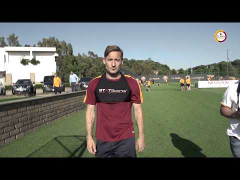 Francesco Totti's final training session with Roma