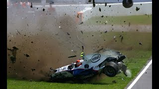 Worst F1 Crashes from each year 2000 - 2018