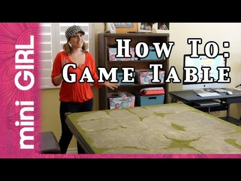 Delightful MiniGIRL #09: How To Make Game Table For Miniatures  Fast Tutorial  So  Easy!   YouTube