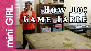 Minigirl #09: How To Make Game Table For Miniatures -fast Tutorial- So Easy!