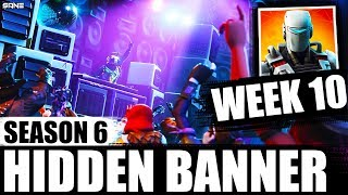 WEEK 10 HIDDEN/ SECRET BANNER LOCATION (hidden battlestar) | Season 6 - Hunting Party | Fortnite