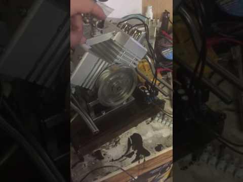 Idling v4 engine