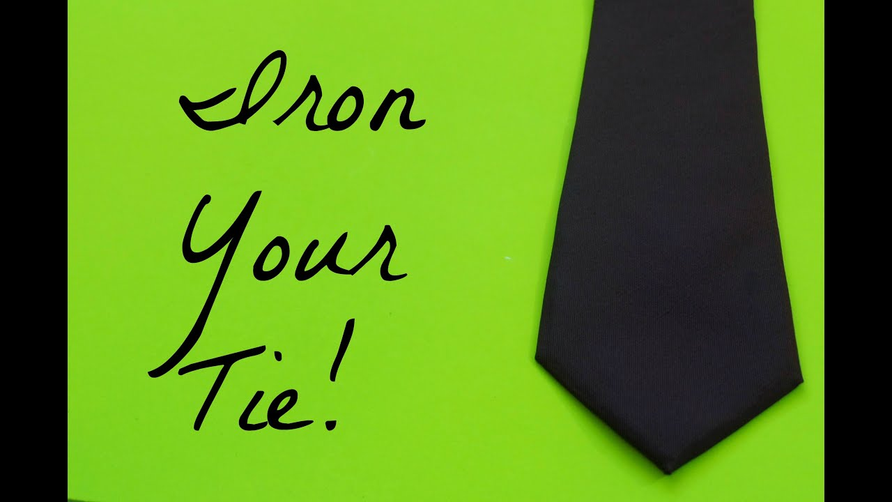 how to iron a wrinkled tie quick and easy youtube. Black Bedroom Furniture Sets. Home Design Ideas