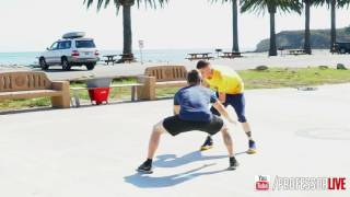 The professor tutorial - behind the back between the legs(tough move)