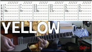 guitar lessons online Coldplay yellow tab