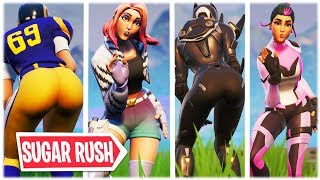 "*NEW* THICC ""SUGAR RUSH"" EMOTE INTRODUCED WITH CUTE SKINS 😍❤️ FORTNITE SHOP SEASON X"