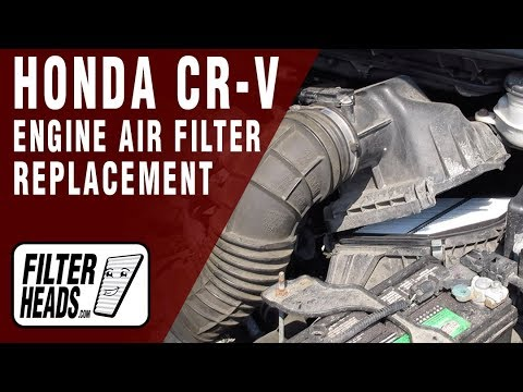 How to Replace Engine Air Filter 2013 Honda CR-V L4 2.4L