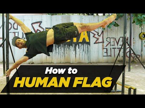HOW TO HUMAN FLAG   Human Flag Tutorial   Calisthenics Workout   Hindi   Rajan Sharma   MuscleBlaze thumbnail