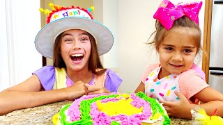 Nastya and Artem birthday surprises and sweets Настя и ее день роджения