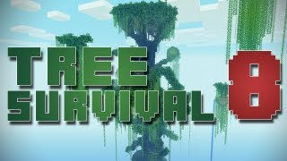 Minecraft Map Playthroughs - Ultimate Tree Survival [Ep8] - Damn scary spiders freakin