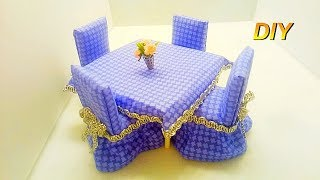 мебель для кукол - стол и стулья  Doll furniture table and chairs