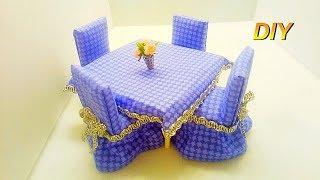 Как сделать стол и стулья для кукол DIY Миниатюра Кукольный домик