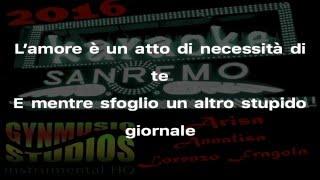 Annalisa Il Diluvio Universale Karaoke Sanremo 2016 by Gynmusic Studios Instrumental HQ