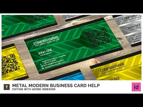 Metal Modern Business Card Help - Editing with Adobe InDesign
