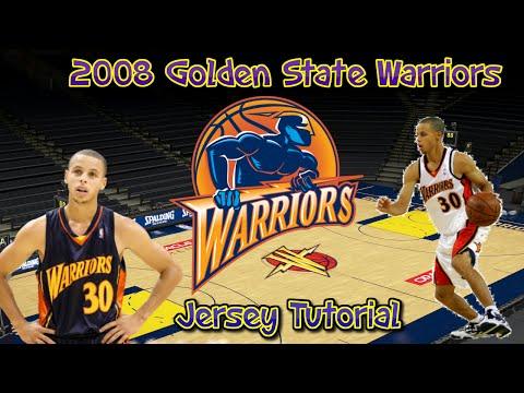 online retailer b0f99 1949b NBA 2K16: How to make 2008 Golden State Warriors Jerseys and ...