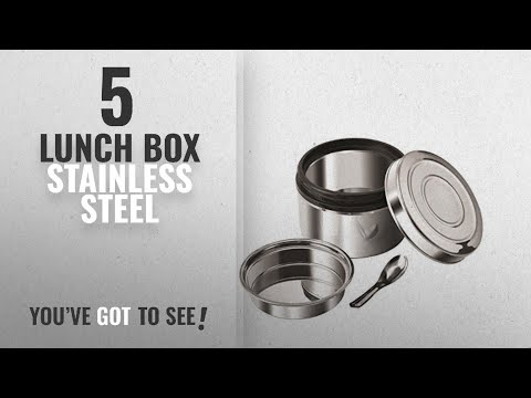 Top 10 Lunch Box Stainless Steel [2018]: NanoNine Local Byte Stainless Steel Insu-Lock Lunch Box,