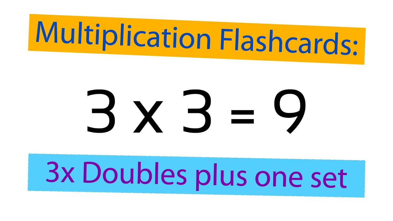 Worksheet Multiplication Flash Cards multiplication flashcards 3x doubles plus 1 set youtube set
