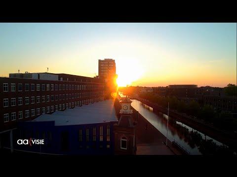 Spectaculair mooie beelden van Almelo met drone