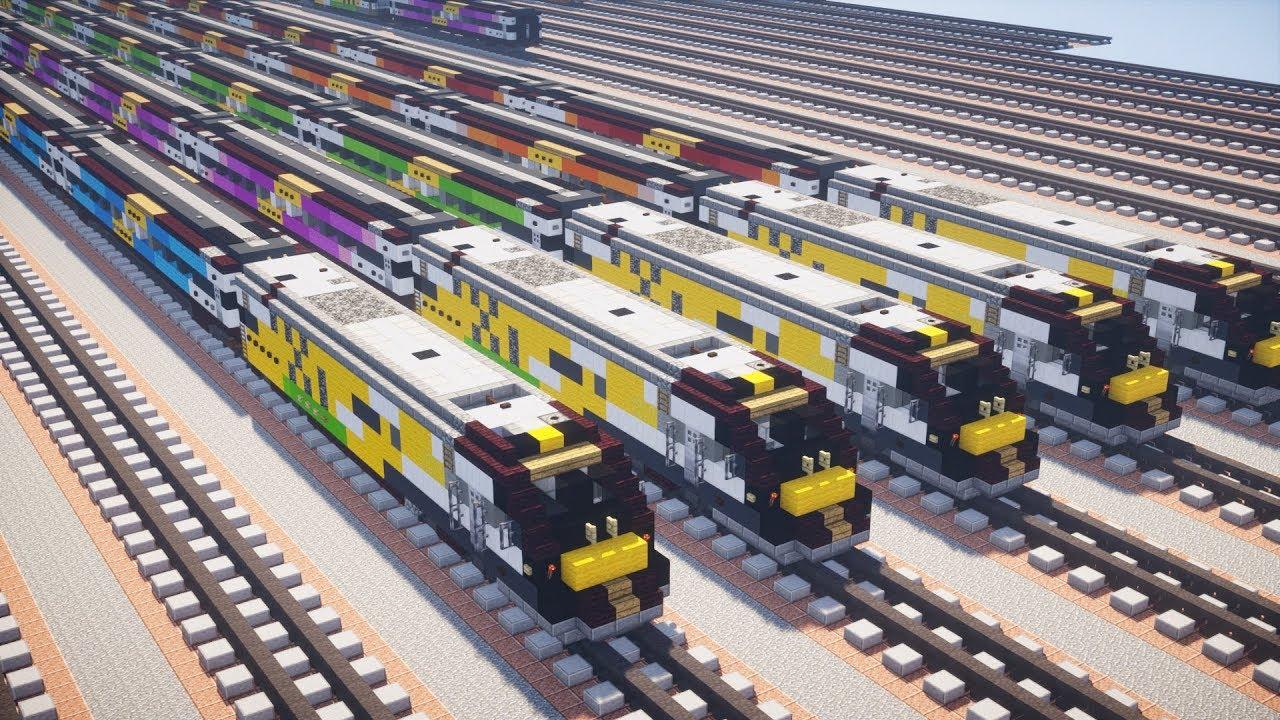 Minecraft Brightline Virgin Trains USA Tutorial - YouTube