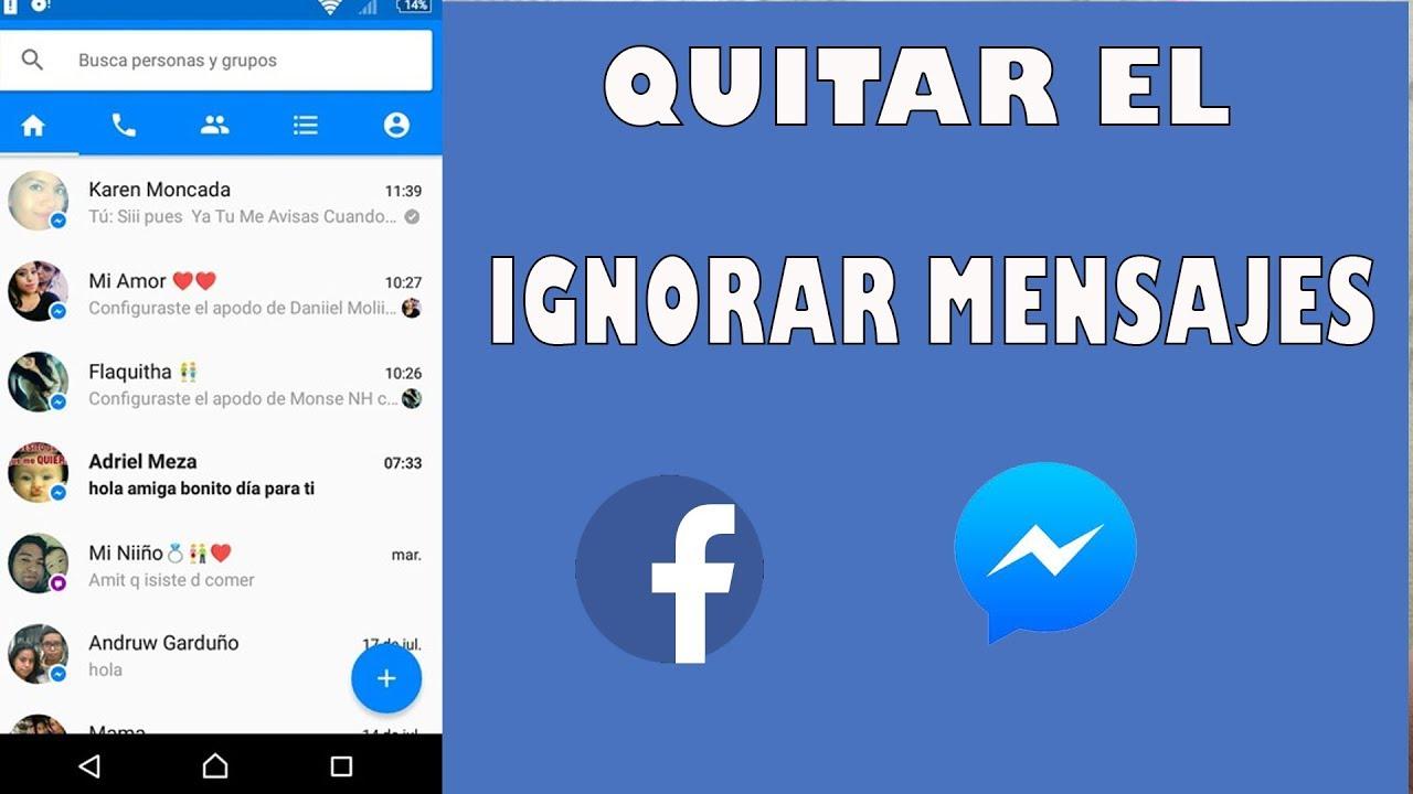 como borrar todos los mensajes de messenger