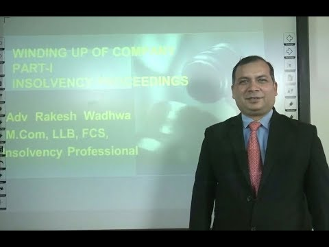Winding Up of Company as per Insolvency & Bankruptcy Code 2016: Insolvency Proceedings