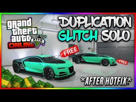 GTA 5 Online - *After Hotfix!* SOLO CAR DUPLICATION GLITCH! (Unlimited Money Glitch) Patch 1.41