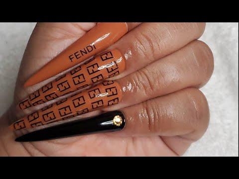 Easy Fendi nails ft. Apres XXXL tips 😮