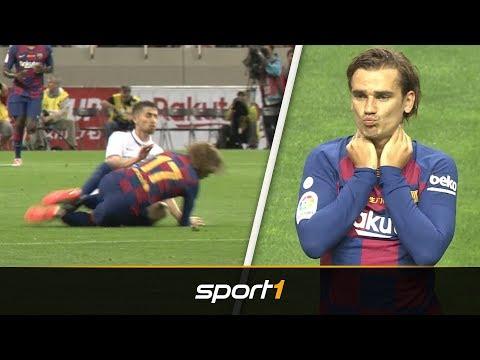 Schreckmoment bei Griezmann-Debüt für Barca | Barcelona - Chelsea | SPORT1