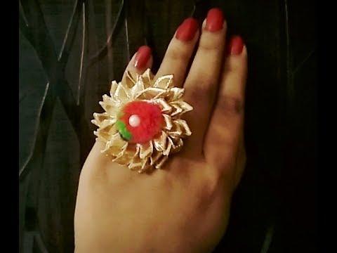 how to make gota jewellery | diy rings | handmade rings\navratry special jwellery