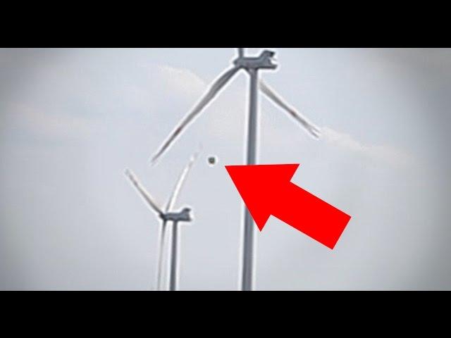 UFO turnes off the wind turbines / Obiekt UFO wyłącza wiatraki – Majdan Górny