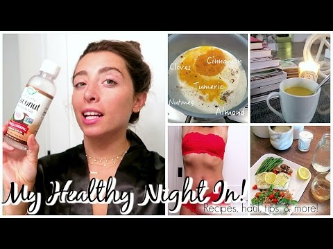 MY HEALTHY NIGHT IN - NIGHT ROUTINE!