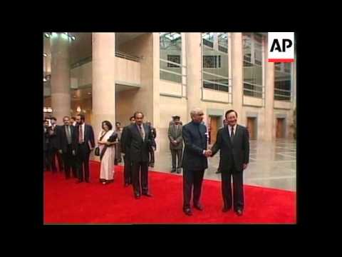 CHINA: INDIAN FOREIGN MINISTER JASWANT SINGH VISIT